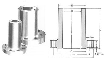 ANSI ASME B16.5 Long Weld Neck Flanges Dimensions